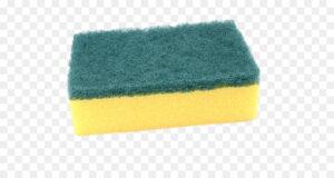 spugna cucina gialla e verde